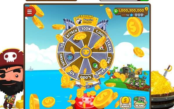 Free Pirate Kings Spins on the Lucky Wheel