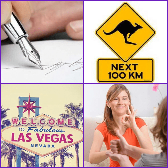 4 Pics 1 Word –  SIGN answer