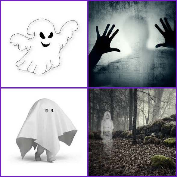 4 Pics 1 Word –  GHOST answer