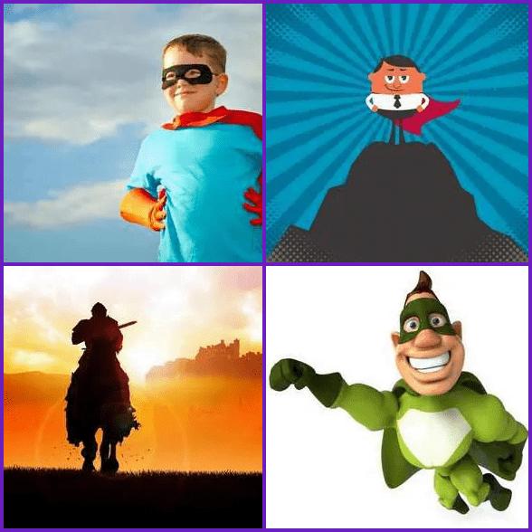 4 Pics 1 Word –  HERO answer