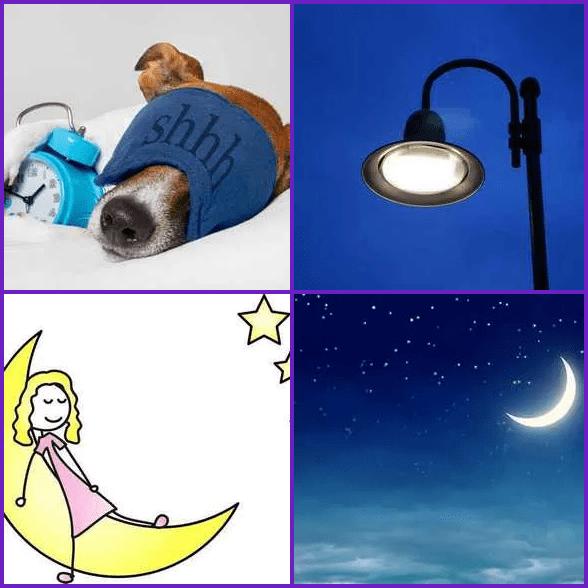 4 Pics 1 Word –  NIGHT answer