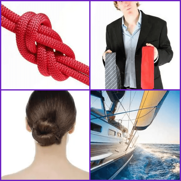 4 Pics 1 Word –  KNOT answer