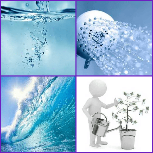 4 Pics 1 Word –  WATER answer