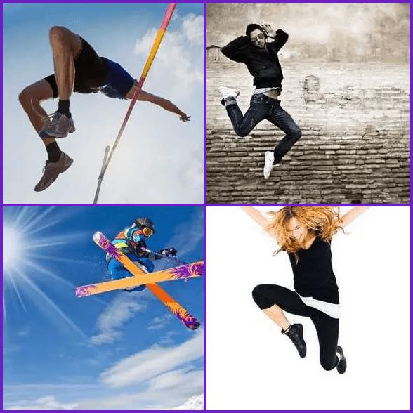 4 Pics 1 Word –  JUMP answer