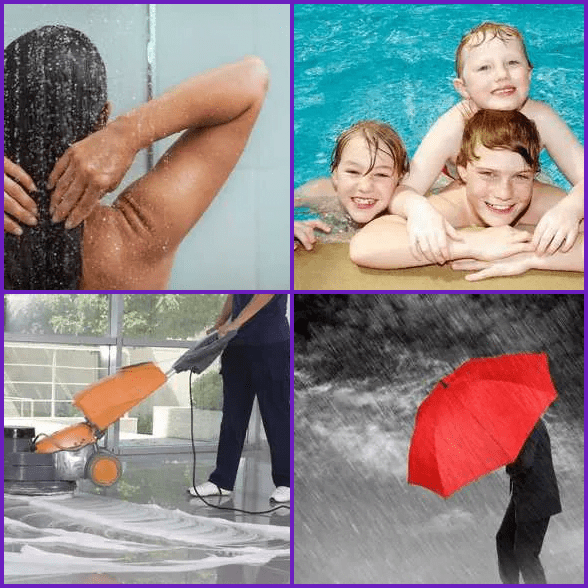 4 Pics 1 Word –  WET answer