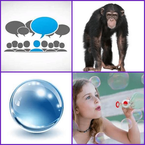 4 Pics 1 Word –  BUBBLE answer