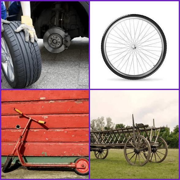 4 Pics 1 Word –  WHEEL answer