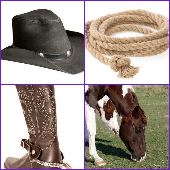 4 Pics 1 Word –  COWBOY answer