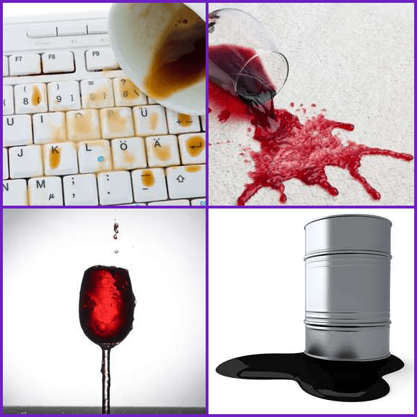 4 Pics 1 Word –  SPILL answer