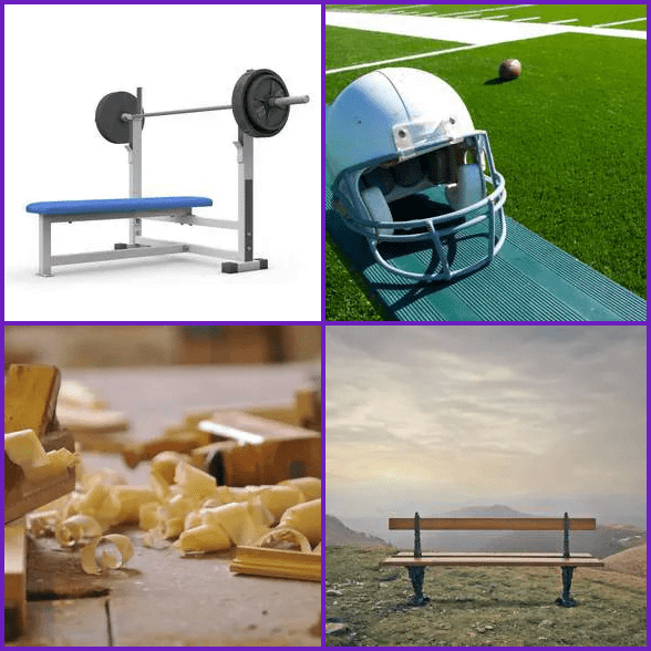 4 Pics 1 Word –  BENCH answer