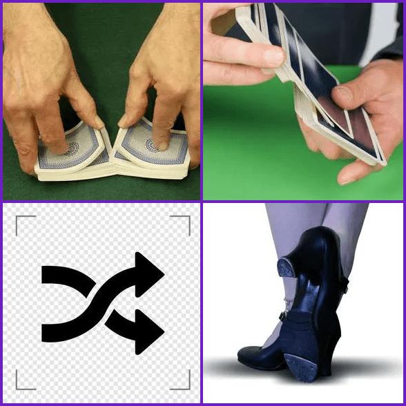 4 Pics 1 Word –  SHUFFLE answer