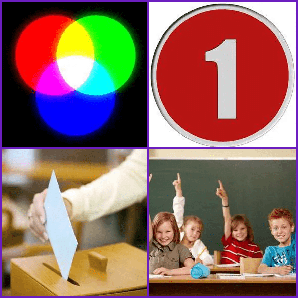 4 Pics 1 Word –  PRIMARY answer