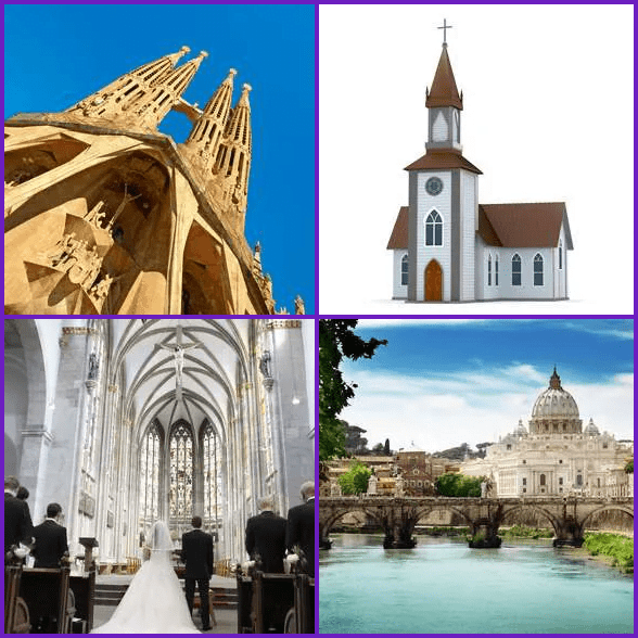 4 Pics 1 Word –  CHURCH answer