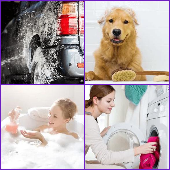 4 Pics 1 Word –  WASH answer