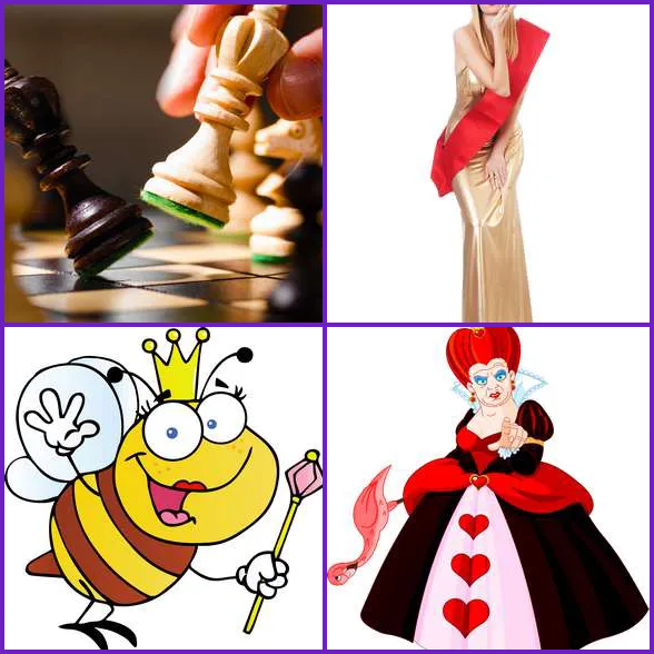 4 Pics 1 Word –  QUEEN answer