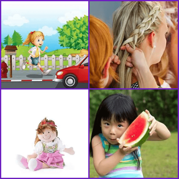 4 Pics 1 Word –  GIRL answer