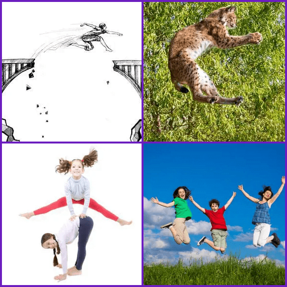 4 Pics 1 Word –  LEAPING answer