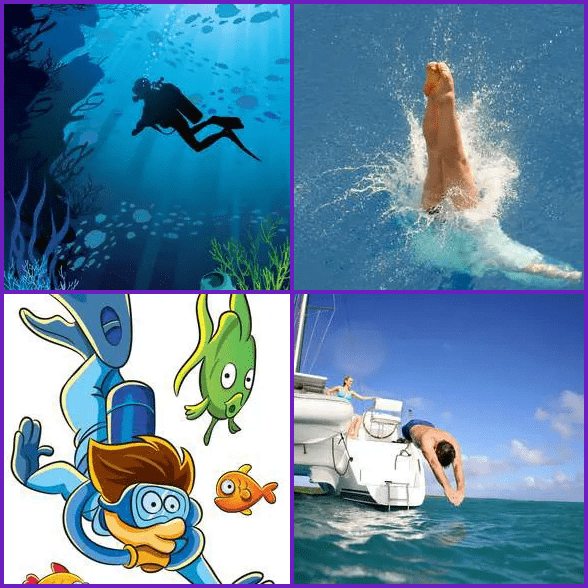 4 Pics 1 Word –  DIVE answer