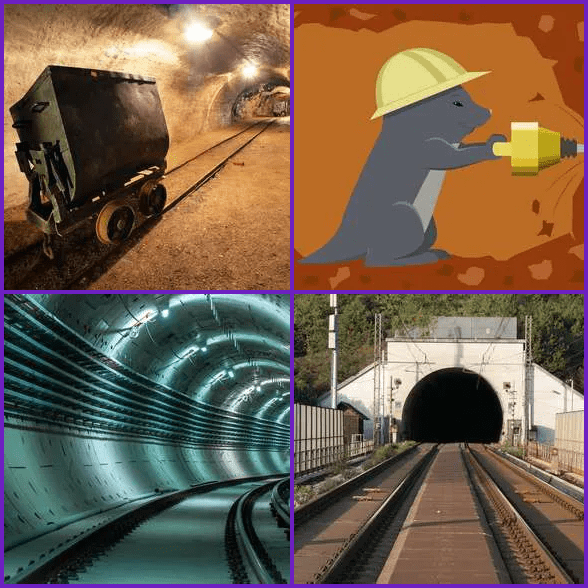 4 Pics 1 Word –  TUNNEL answer