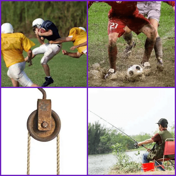 4 Pics 1 Word –  TACKLE answer
