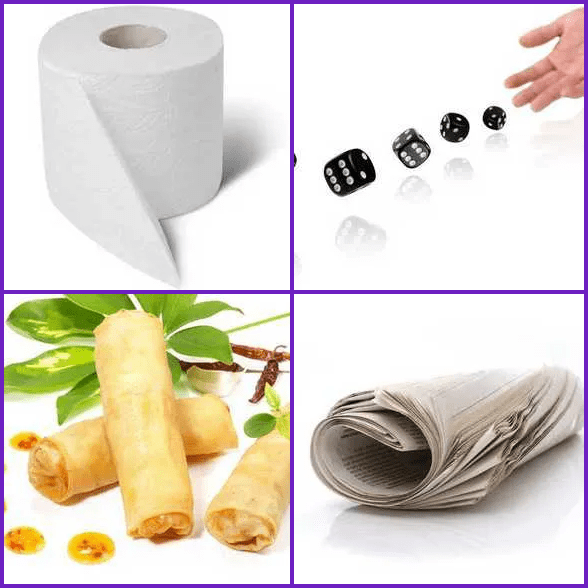 4 Pics 1 Word –  ROLL answer