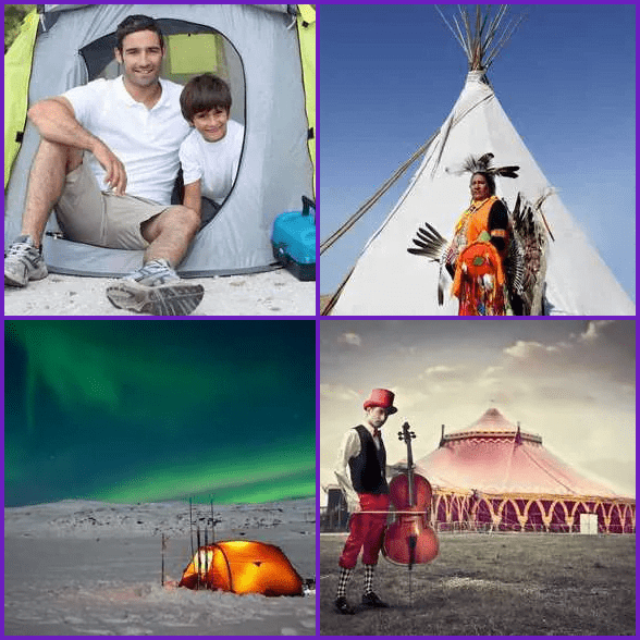 4 Pics 1 Word –  TENT answer