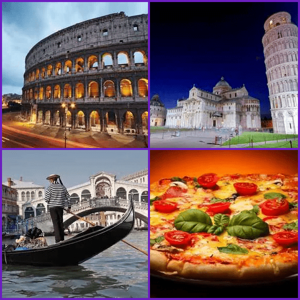 4 Pics 1 Word –  ITALY answer