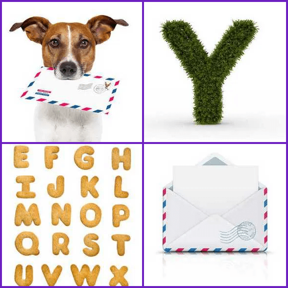 4 Pics 1 Word –  LETTER answer