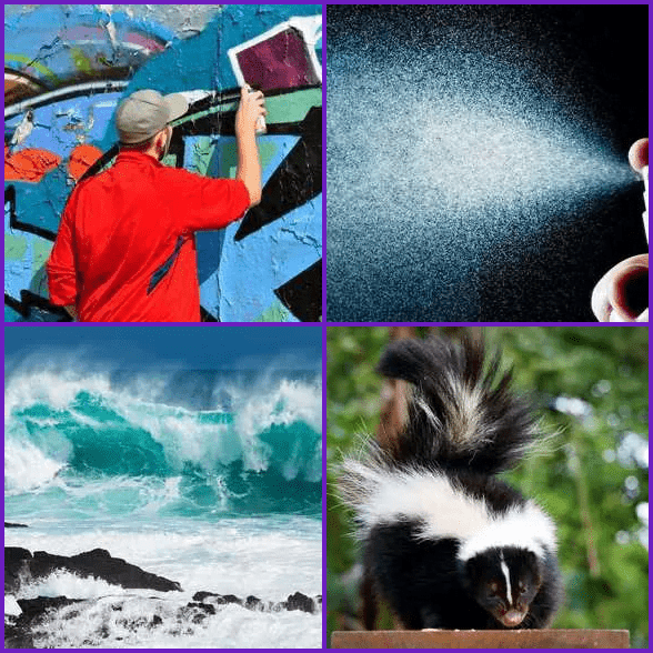 4 Pics 1 Word –  SPRAY answer