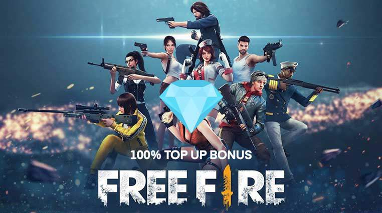 Free Fire Top-UP Centre: How to Top-Up with 100% Bonus Garena Free Fire