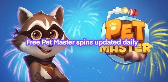 free pet master spins