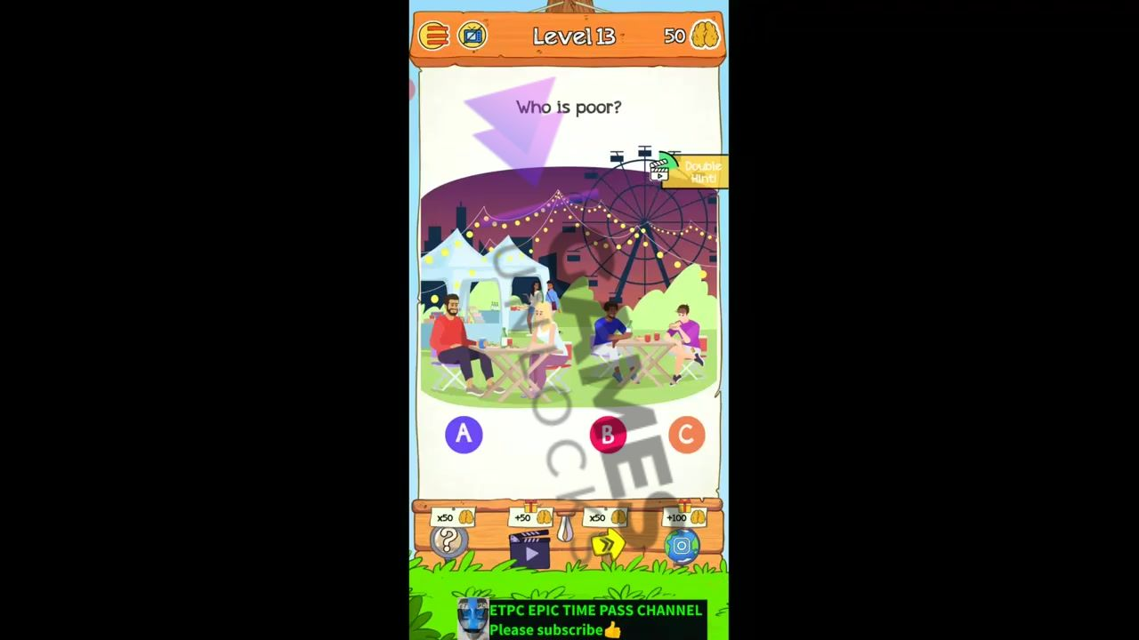 Braindom 2 Level 13 Who is poor Answer