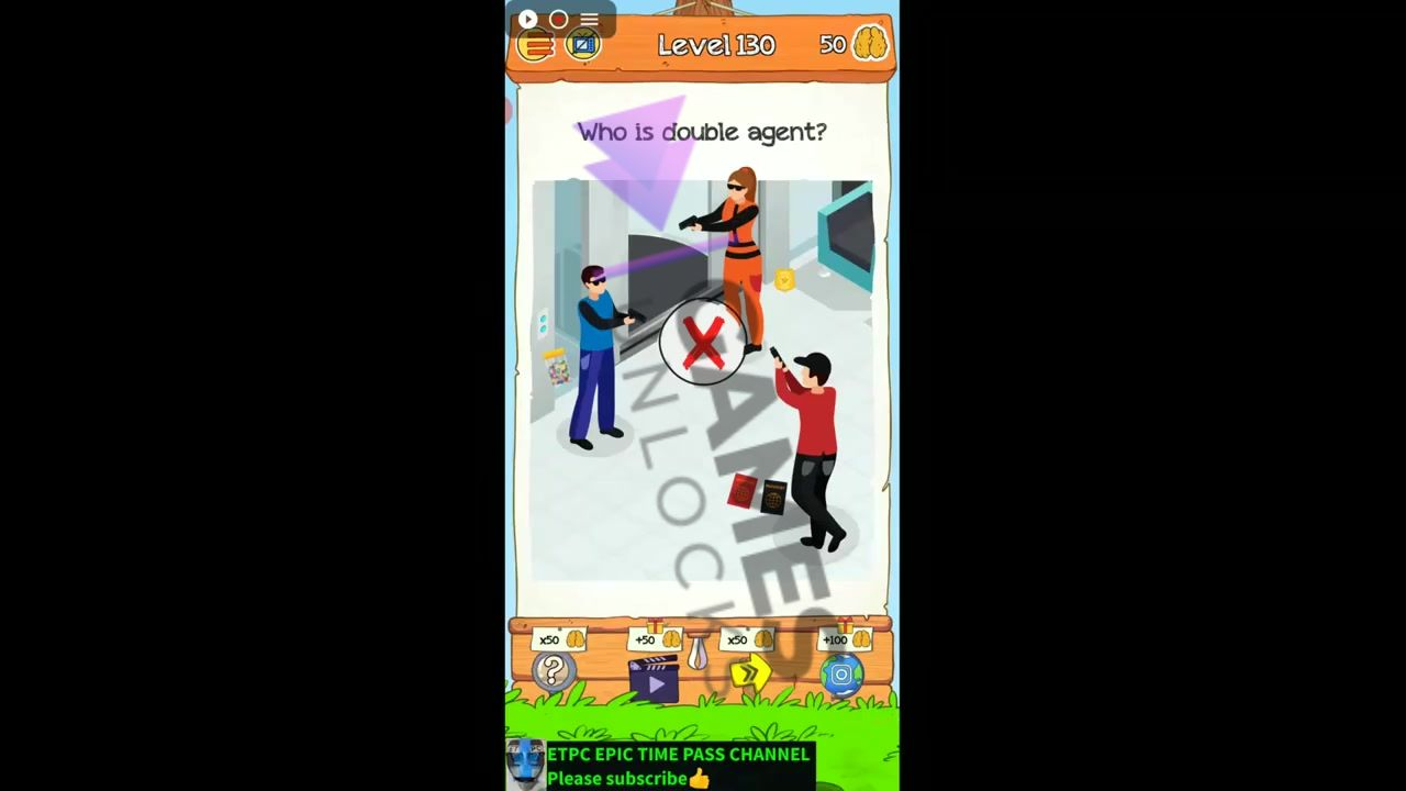 Braindom 2 Level 130 Who is double agent Answer