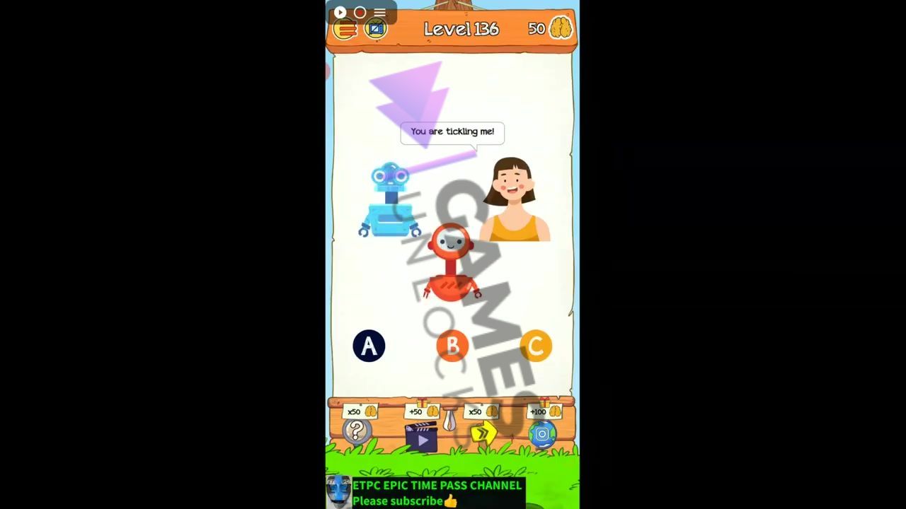 Braindom 2 Level 136 Which one is human Answer