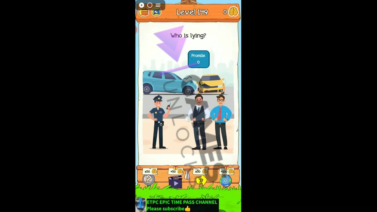 Braindom 2 Level 149 Who is responsible for crash Answer