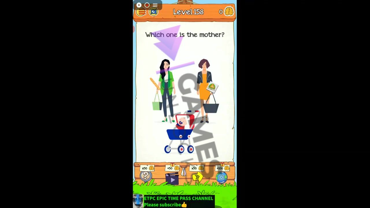 Braindom 2 Level 158 Who is the mother Answer