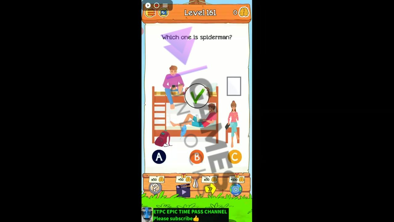 Braindom 2 Level 161 Which one is the robot Answer