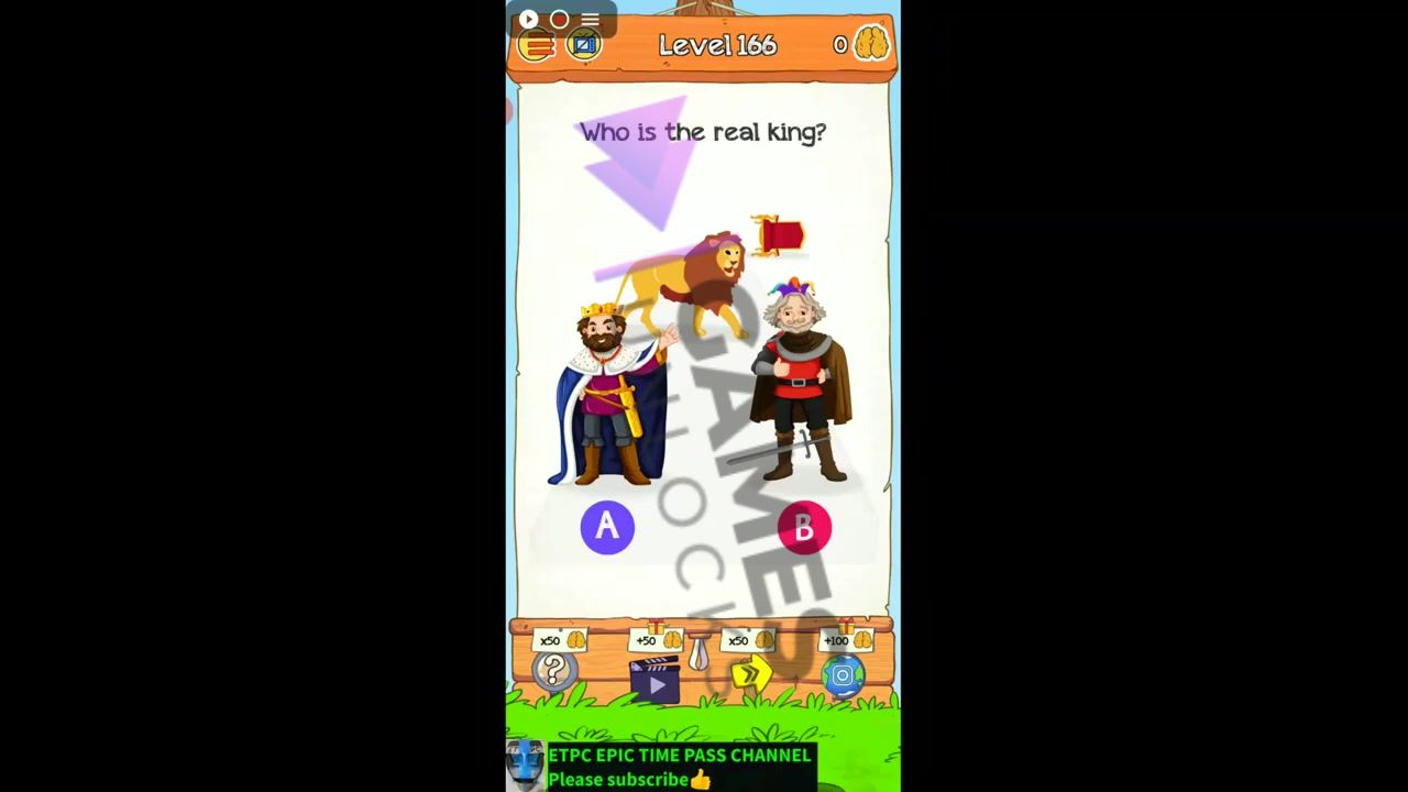 Braindom 2 Level 166 Who is the king Answer