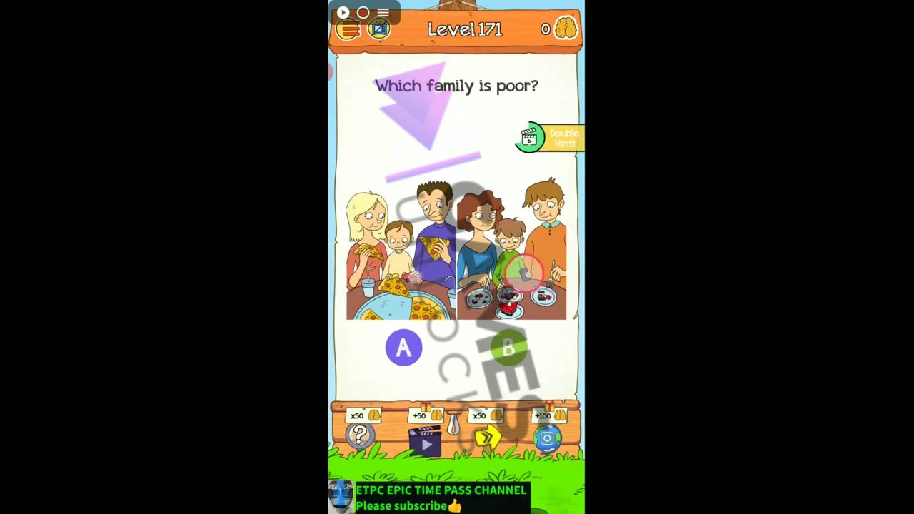 Braindom 2 Level 171 Which family is poor Answer