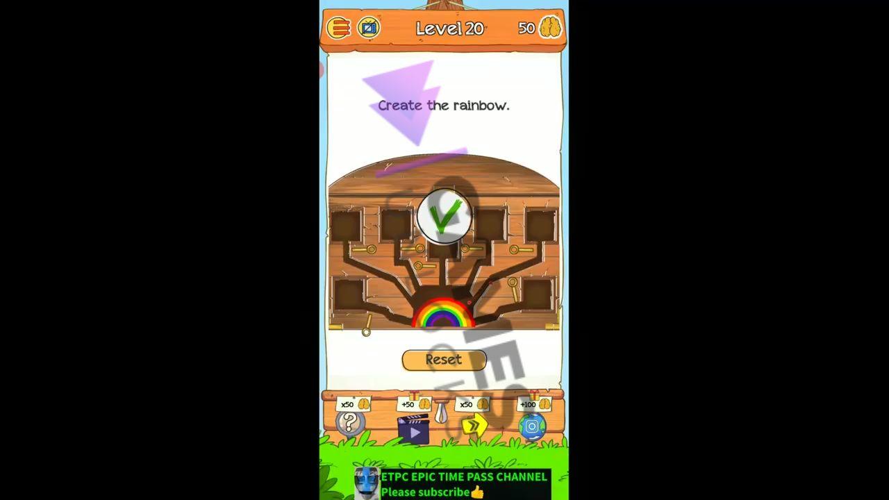 Braindom 2 Level 20 Create the rainbow Answer