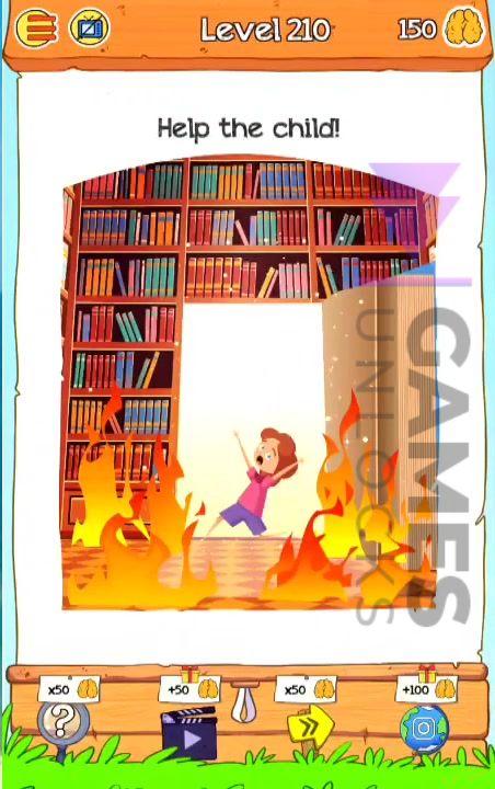 Braindom 2 Level 210 Help the child Answer