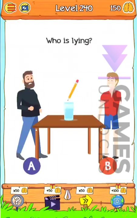 Braindom 2 Level 240 Who is lying Answer
