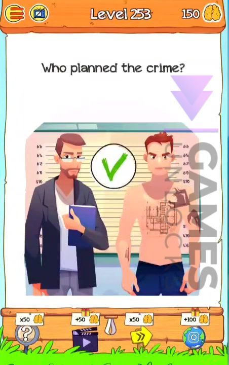 Braindom 2 Level 253 Who planned the crime Answer