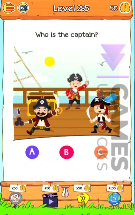 Braindom 2 Level 285 Who is the captain Answer