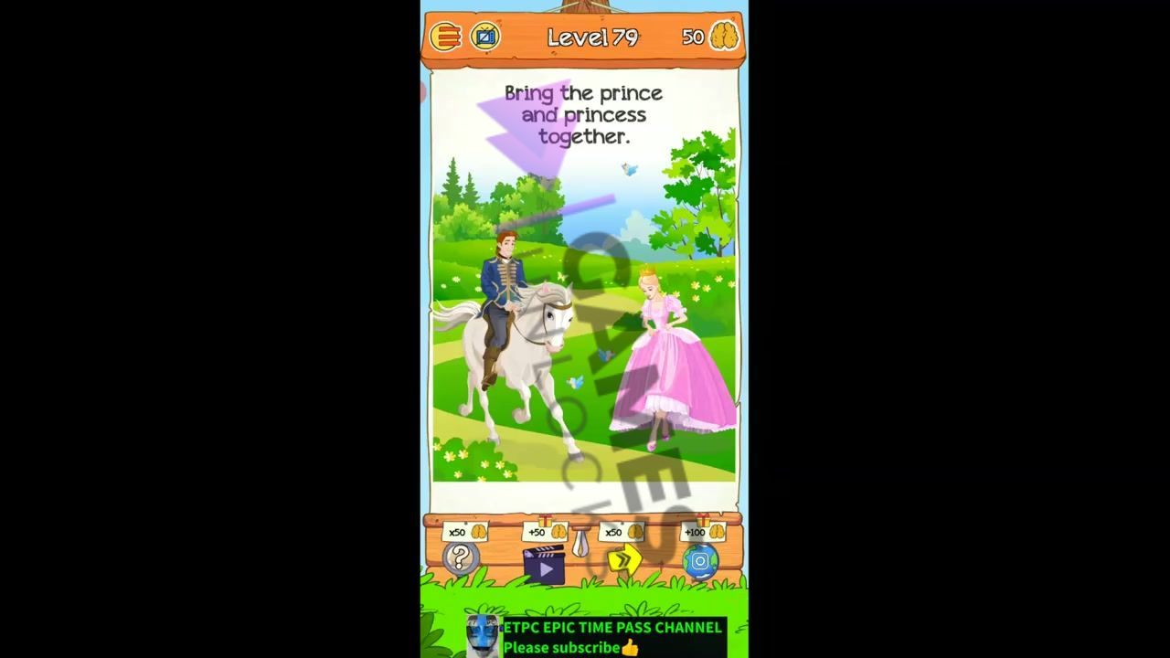 Braindom 2 Level 79 Bring the prince and princess Answer