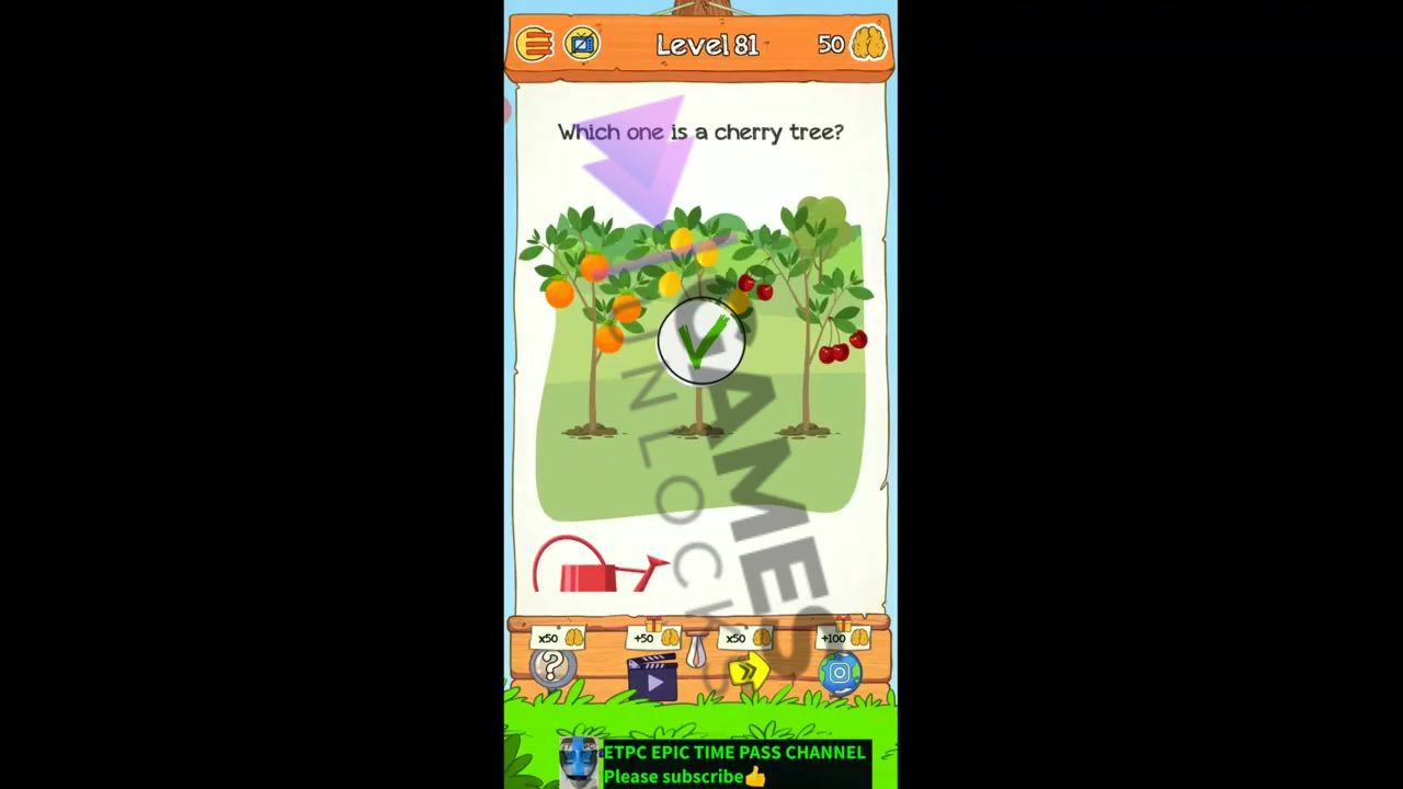 Braindom 2 Level 81 Which one is a cherry tree Answer
