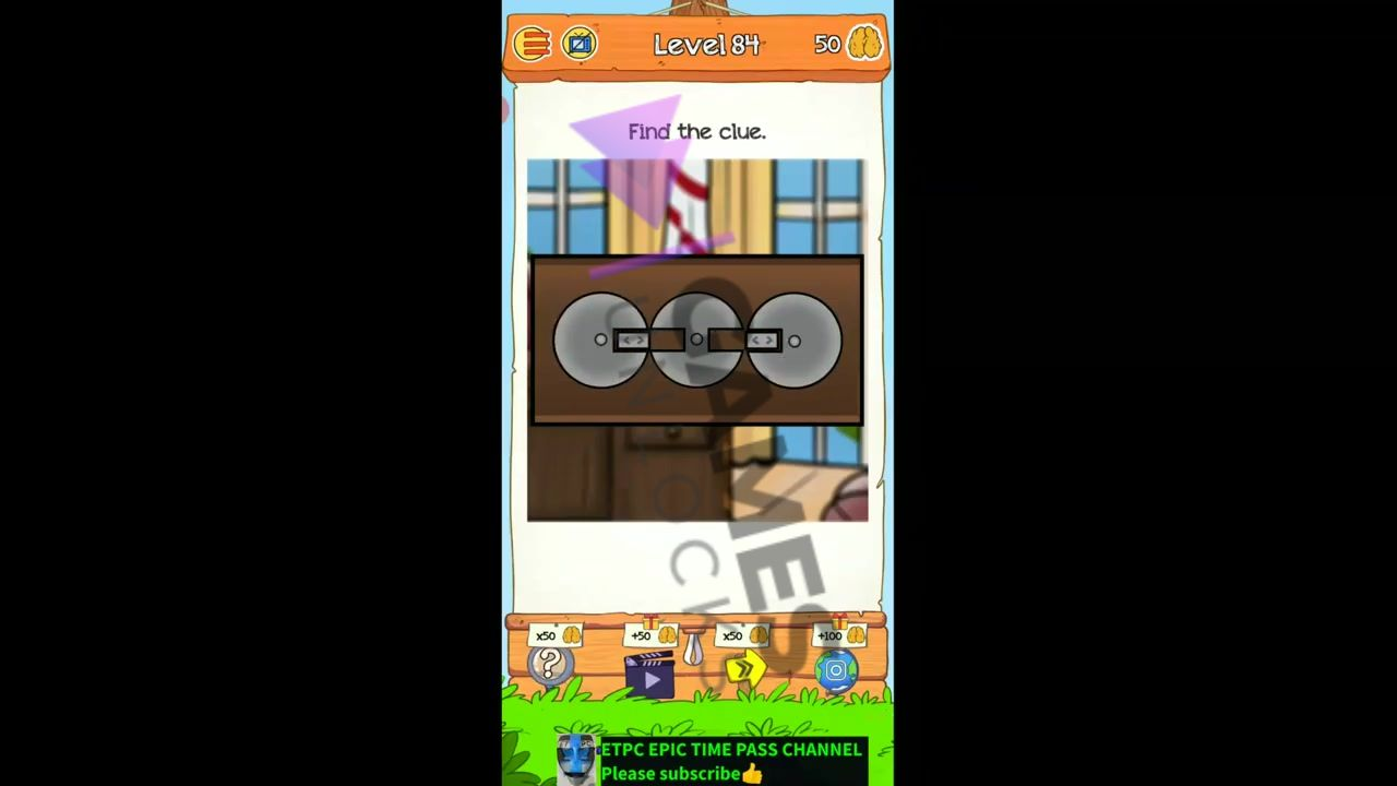 Braindom 2 Level 84 Find the clue Answer