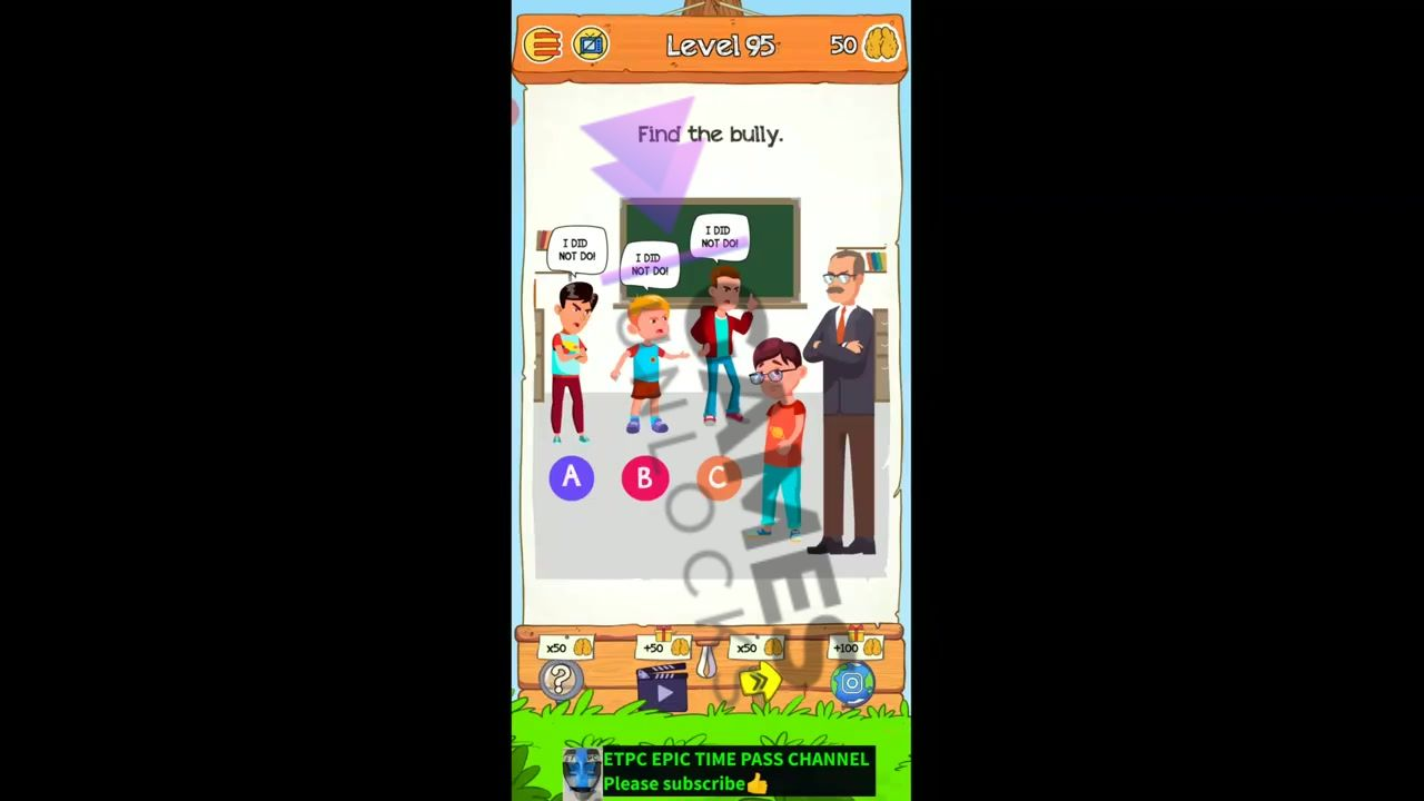 Braindom 2 Level 95 Find the bully Answer